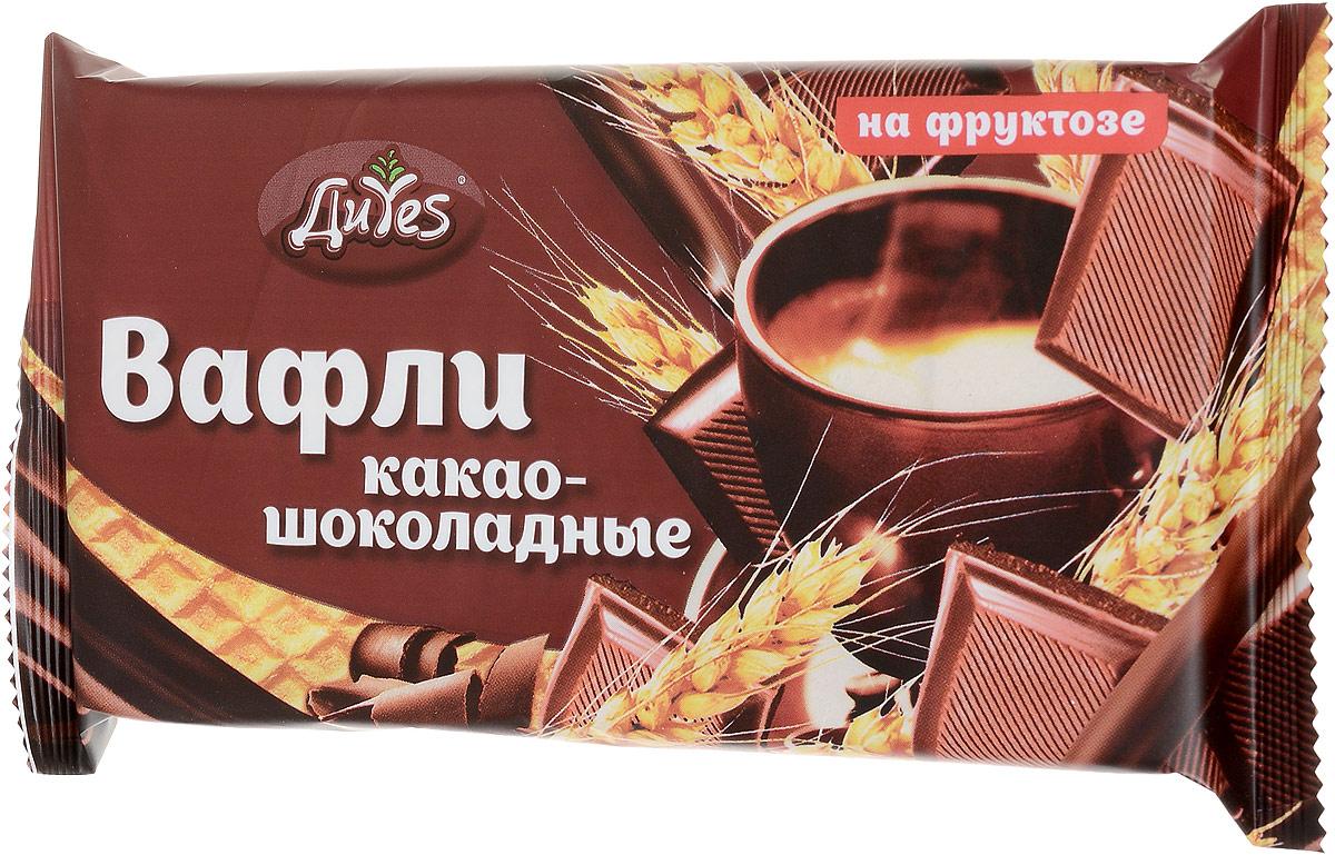 ДиYes Вафли Какао-шоколадные на фруктозе, 90 г