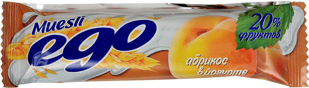 Ego Батончик мюсли со вкусом Абрикос в йогурте, 25 г4607061252483Батончики мюсли Ego - это новое поколение диетических продуктов, концентрированный набор крупноволокнистой пищи, витаминов и микроэлементов. Они изготавливаются из пшеничных и овсяных хлопьев, экструдированной кукурузы и риса, различных фруктов, семян подсолнечника, орехов и мальтозного сиропа. Прекрасно подходят для диетического питания. Уважаемые клиенты! Обращаем ваше внимание, что полный перечень состава продукта представлен на дополнительном изображении.