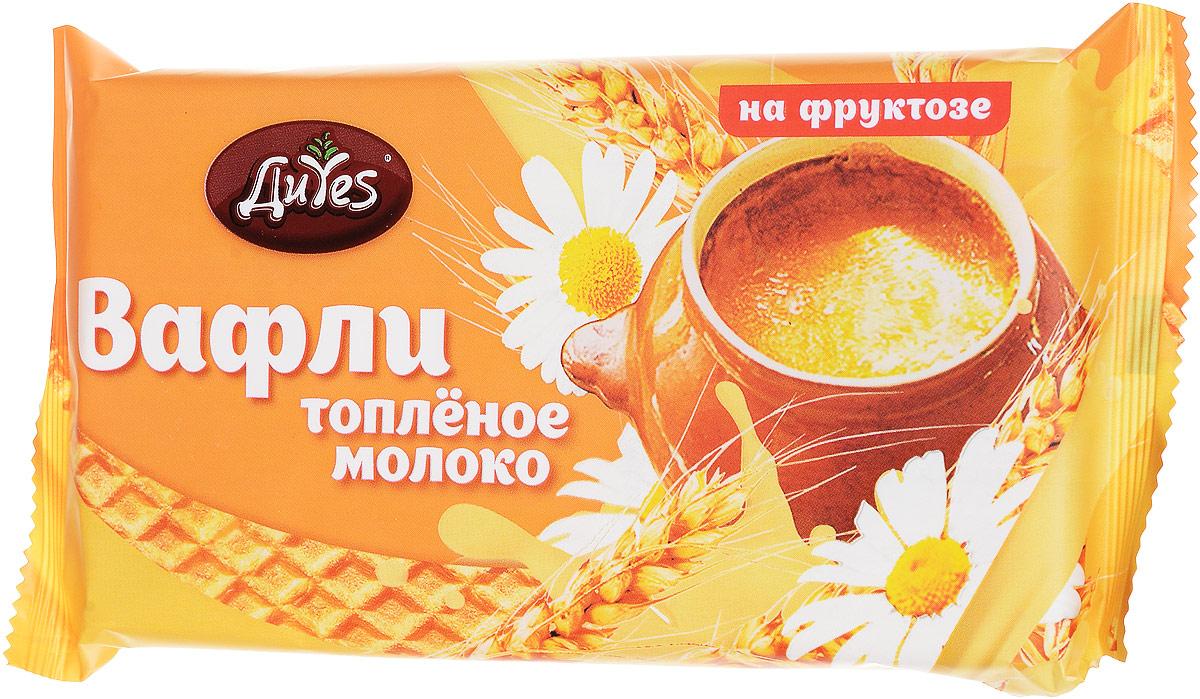 ДиYes Вафли Топленое молоко на фруктозе, 90 г