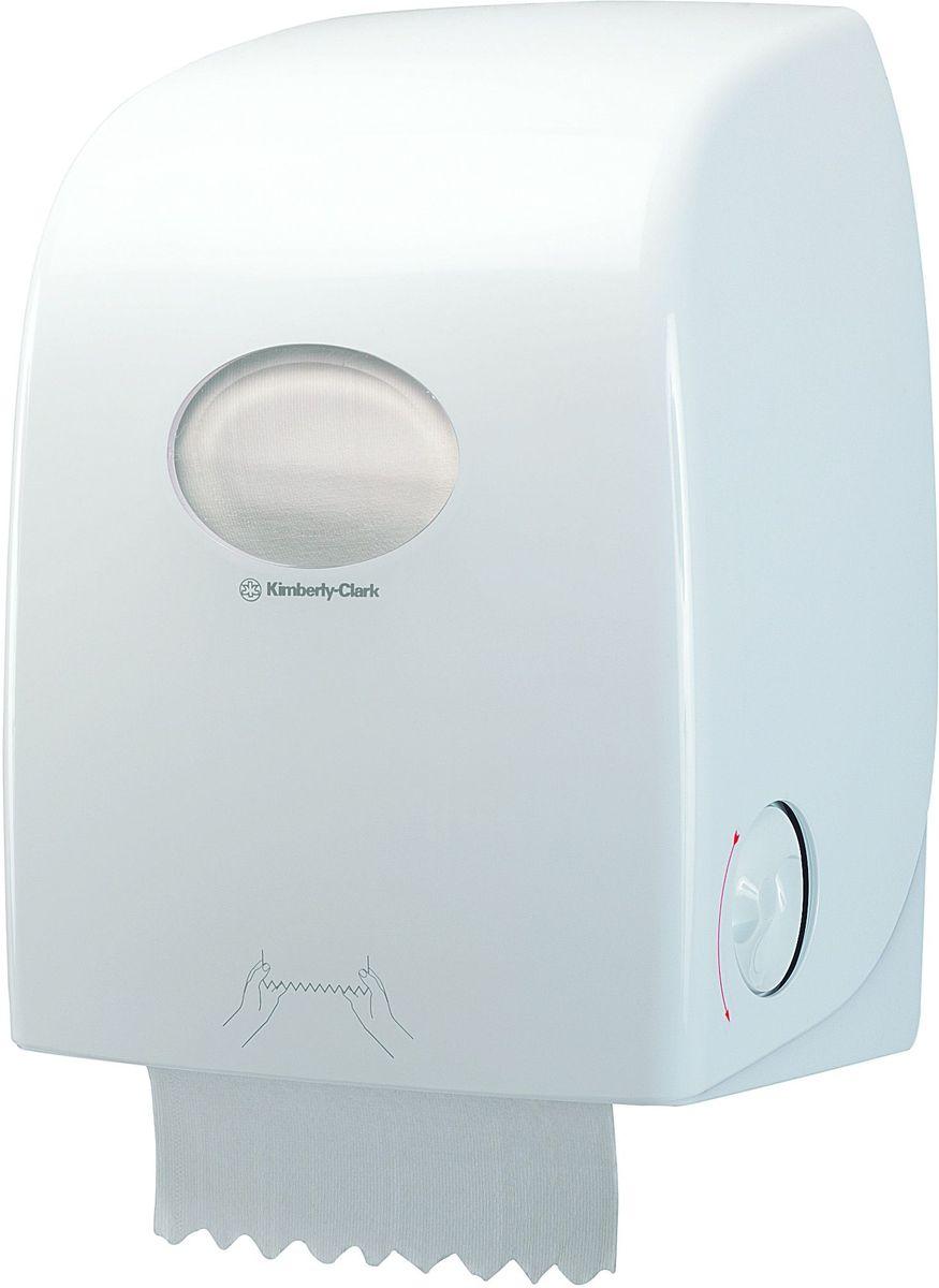 Диспенсер для бумажных полотенец Aquarius, рулон, цвет: белый. 69596959Ассортимент диспенсеров для рулонных бумажных полотенец из скоординированной линейки диспенсеров для туалетных комнат. Диспенсеры мотивируют сотрудников соблюдать гигиенические нормы, повышают уровень комфорта, демонстрируют заботу о персонале и помогают сократить расходы. Идеальное решение, обеспечивающее подачу по одному листу без касания диспенсера, снижение риска перекрестного загрязнения и предотвращение распространения бактерий. Наше уникальное запатентованное устройство защиты от переполнения облегчает процесс заправки, помогает предотвратить заминание продукта и снижает объем отходов Формат поставки: диспенсер современного дизайна, обтекаемой формы, обеспечивающий быструю заправку; белое глянцевое, легко очищаемое покрытие; отсутствие мест скопления пыли и грязи; смотровое окно для контроля за расходными материалами; возможность выбора цветовых вставок в соответствие с интерьером конкретных туалетных комнат. Совместим с полотенцами: 6063, 6657, 6667, 6668, 6687, 6688, 6765.