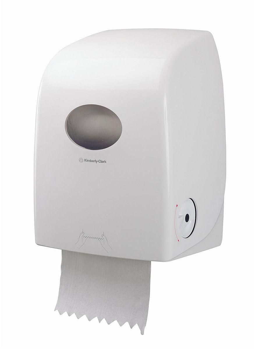 Диспенсер для бумажных полотенец Aquarius Scott Max, рулон, цвет: белый, длина 25 см. 69896989Ассортимент диспенсеров для рулонных бумажных полотенец из скоординированной линейки диспенсеров для туалетных комнат. Диспенсеры мотивируют сотрудников соблюдать гигиенические нормы, повышают уровень комфорта, демонстрируют заботу о персонале и помогают сократить расходы. Идеальное решение, обеспечивающее подачу по одному листу без касания диспенсера, снижение риска перекрестного загрязнения и предотвращение распространения бактерий. Диспенсер позволяет загружать одновременно новый рулон, а также остаток предыдущего с небольшим количеством бумаги. Таким образом обеспечивается максимальная экономия расходного материла. Укороченная длина отрыва до 25 см. Совместимы с полотенцами: 6691, 6692. Формат поставки: диспенсер современного дизайна, обтекаемой формы, обеспечивающий быструю заправку; белоное глянцевое, легко очищаемое покрытие; отсутствие мест скопления пыли и грязи; смотровое окно для контроля за расходными материалами; возможность выбора цветовых вставок в соответствие с...
