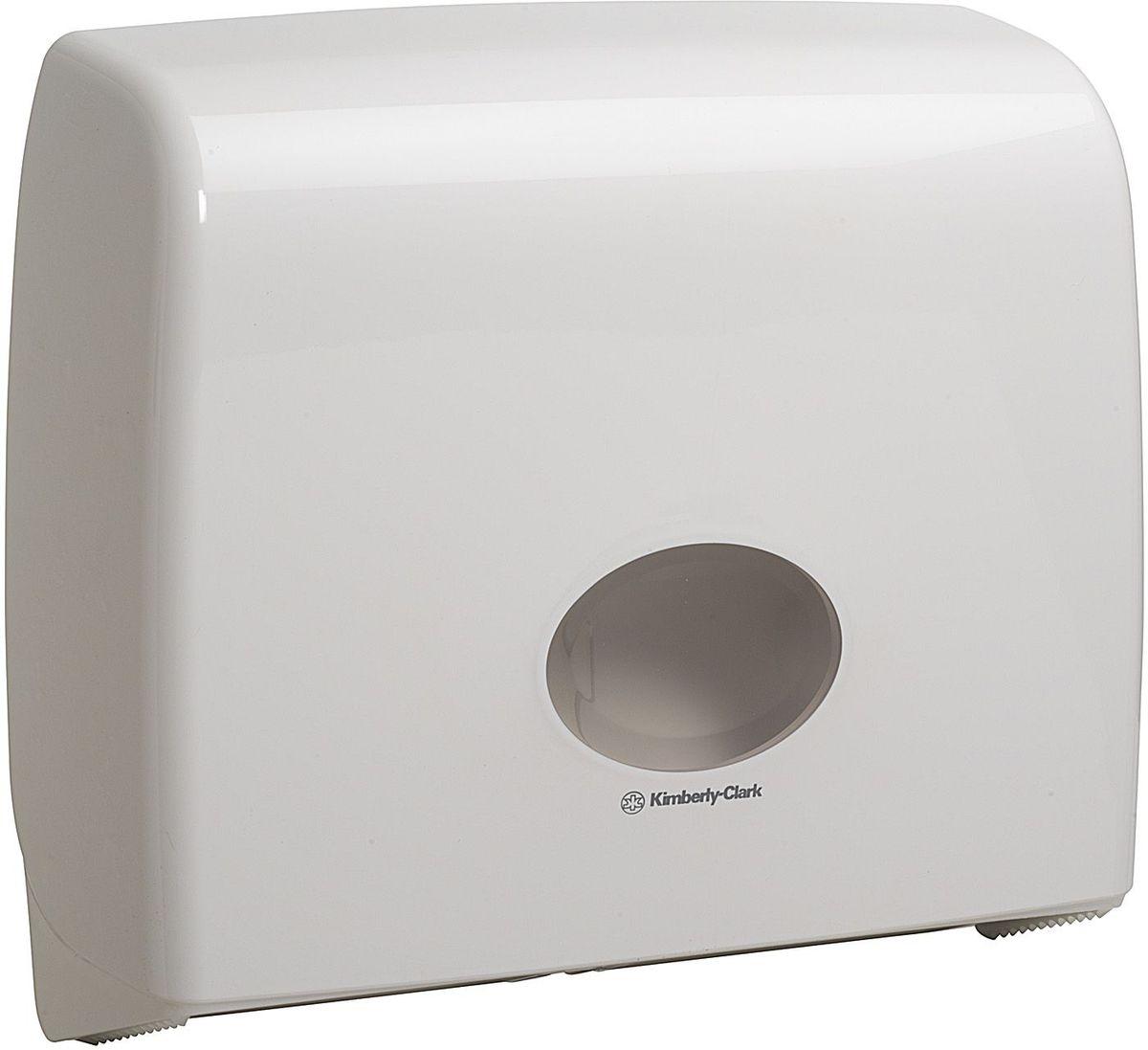 Диспенсер для туалетной бумаги Aquarius Jumbo, большой рулон, цвет: белый. 69916991Ассортимент диспенсеров для рулонной туалетной бумаги, которые выполнены в одном стиле с диспенсерами для мыла и для полотенец для рук. Диспенсеры мотивируют сотрудников соблюдать гигиенические нормы, повышают уровень комфорта, демонстрируют заботу о персонале и помогают сократить расходы. Идеальное решение, обеспечивающее подачу рулонной туалетной бумаги из элегантного диспенсера в туалетных комнатах с высокой проходимостью, легкая загрузка, практичное, гигиеничное и экономичное решение. Формат поставки: диспенсер современного дизайна, обтекаемой формы, обеспечивающий быструю заправку; белое глянцевое, легко очищаемое покрытие; отсутствие мест скопления пыли и грязи; смотровое окно для контроля за расходными материалами; возможность выбора цветовых вставок в соответствие с интерьером конкретных туалетных комнат. Замена диспенсера 6987. Совместим с туалетной бумагой: 8440, 8442, 8446, 8449, 8474, 8484, 8517, 8519, 8559.