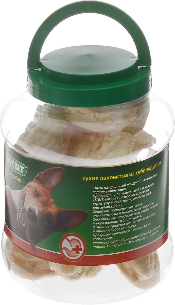 Лакомство для собак Titbit, говяжье ухо, 4,3 л319595Лакомство для собак Titbit - это 100% натуральный продукт с пониженным содержанием жира. Состоит из высушенных говяжьих ушей и содержит полноценные белки, аминокислоты и минеральные вещества. Способствует профилактике дисбактериоза и образования зубного камня. Отличное средство для укрепления десен и очистки зубов от налета. Прекрасно сочетается с любым типом кормления. Товар сертифицирован.