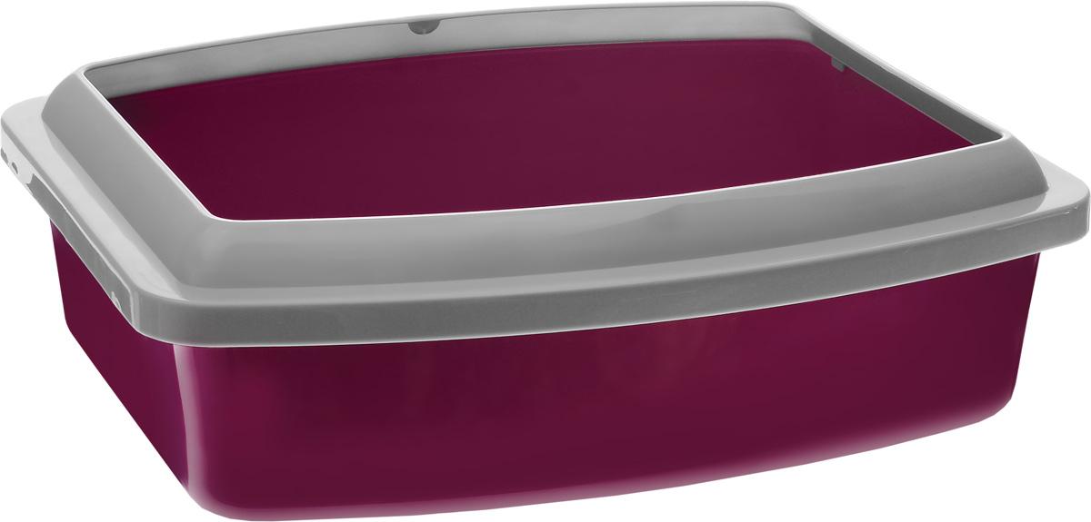Туалет для кошек Savic Oval Trays, с бортом, цвет: светло-серый, фиолетовый, 47 х 39 x 14,5 см0217-0219_светло- серый, фиолетовыйТуалет для кошек Savic Oval Trays изготовлен из качественного прочного пластика. Высокий цветной борт, прикрепленный по периметру лотка, удобно защелкивается и предотвращает разбрасывание наполнителя.