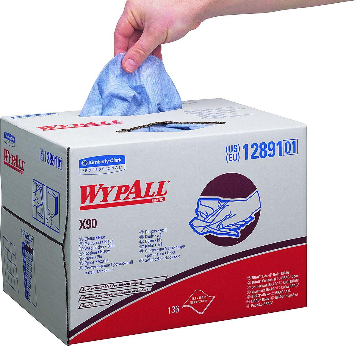 Материал протирочный Wypall Х90, двухслойный, 152 листа. 1289112891Протирочные салфетки для многоразового использования, изготовленные по технологии HYDROKNIT®, обладают отличной впитывающей способностью, долговечностью и прочностью (как в сухом, так и во влажном состоянии), могут использоваться с большинством растворителей, обеспечивают быструю очистку и помогают сократить расходы. Идеальное решение для удаления разливов воды и масел, очистки рук и узлов механизмов от масла, смазки, грязи, растворителей; прецизионная очистка машин и мелких деталей. Формат поставки: в переносной системе - коробке BRAG®, обеспечивающей контролируемый доступ к гигиенически защищенным салфеткам, когда вы убираете или вытираете что-либо на ходу.