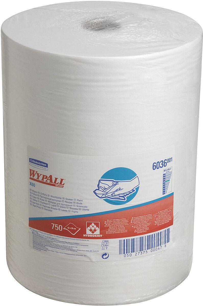 Полотенца бумажные Wypall Х60, 750 шт6036Бумажные полотенца Wypall Х60 обладают отличной впитывающей способностью, долговечностью и прочностью, как в сухом, так и во влажном состоянии. Подходят для работы по очистке от клея, масла, мусора, стекол, а также для прецизионной очистки сложных механизмов и деталей.