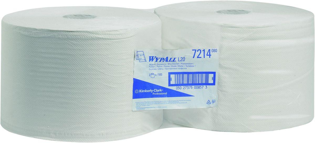 Салфетка бумажная Wypall L20, двухслойные, 3000 листов. 72147214Двуслойные протирочные салфетки в спайке из двух рулонов по 1500 листов отличаются прочностью и хорошей впитывающей способностью, что позволяет быстро и экономно выполнять очистку, расходуя меньше салфеток и сокращая затраты. Идеальное решение для легкой очистки, прецизионного устранения разливов жидкостей; удаление грязи, пыли; полировка стекла и гладких поверхностей; очистка и протирка инструментов и рук; очистка перед окончательной сборкой; протирка в местах приготовления пищи. Формат поставки: спайка из двух больших рулонов по 1500 листов. Может использоваться с переносными или стационарными диспенсерами для контроля расхода продукта и уменьшения объема отходов.