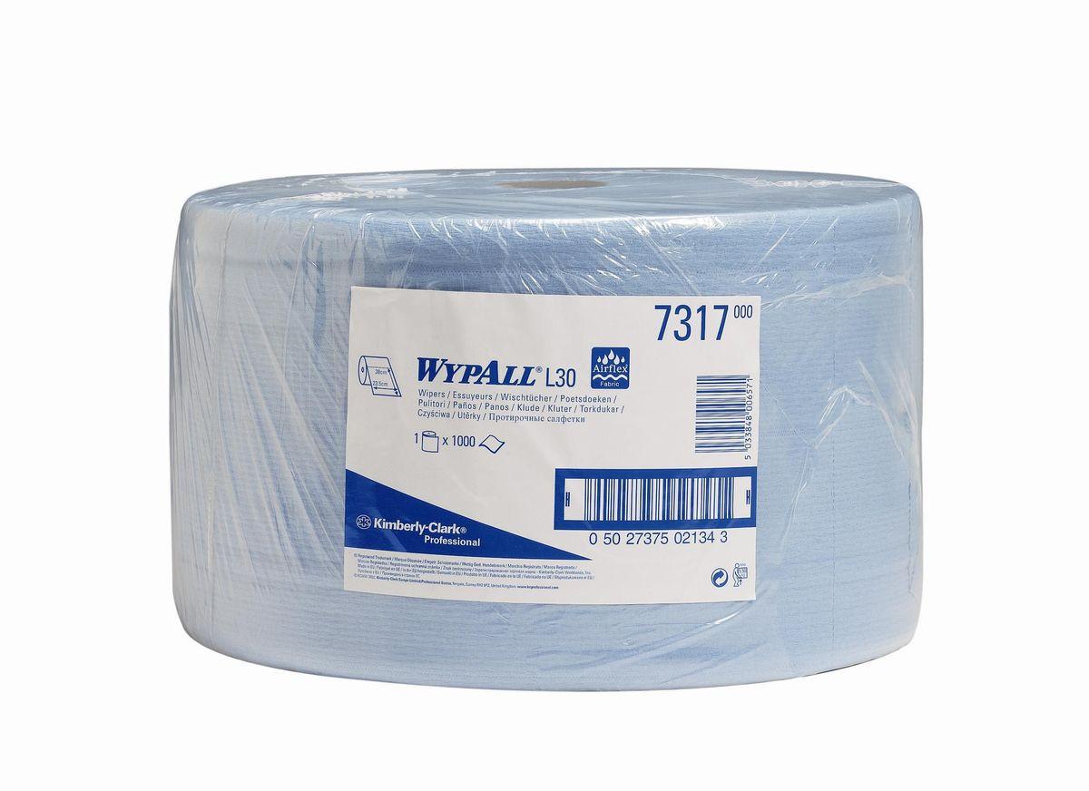 Салфетка бумажная Wypall L20 Extra, двухслойные, 1000 листов. 73177317Протирочные салфетки с ограниченным сроком службы, произведенные при помощи технологии AIRFLEX®. Благодаря данной технологии изготовления салфетки WYPALL серии L30 отличаются особенной прочностью и быстротой впитывания жидкостей. Идеальные салфетки для универсальных задач, сбора грязи, работы с маслом, протирки и впитывания жидкостей в пищевой промышленности, автомобильной индустрии и многих других областей. Формат поставки: большой рулон с перфорацией на 1000 отрывов. Может использоваться с переносными или стационарными диспенсерами для контроля расхода продукта и уменьшения объема отходов.