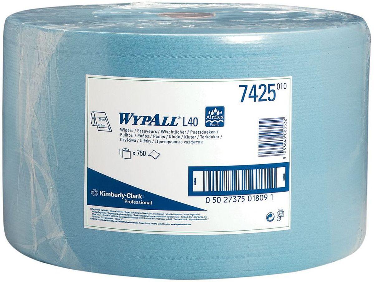 Салфетка протирочная Wypall L40, трехслойные, 750 листов. 74257425Протирочные салфетки с ограниченным сроком службы, произведенные при помощи технологии AIRFLEX®, отличаются прочностью и отличной впитывающей способностью, что позволяет быстро и экономно выполнять очистку, расходуя меньше салфеток и сокращая затраты. Идеальное решение для операций ежедневной очистки на производственных участках, очистки технологических линий, быстрого устранения крупных разливов масла, смазки, протирки рук и лица пациентов в медицинских учреждениях; помогает предотвратить распространение бактерий. Формат поставки: большой рулон с перфорацией для зон с высокой проходимостью. Может использоваться с переносными или стационарными диспенсерами для контроля расхода продукта и уменьшения объема отходов.