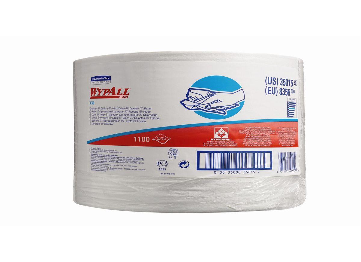 Полотенца бумажные Wypall Х50, 1100 шт. 83568356Полотенца бумажные Wypall Х50 обладают отличной впитывающей способностью, долговечностью и прочностью, как в сухом, так и во влажном состоянии. Такие полотенца можно использоваться с большинством растворителей, они обеспечивают быструю очистку и помогают сократить расходы. Подходят для работы по очистке от клея, масла, мусора, стекол, а также для прецизионной очистки сложных механизмов и деталей.