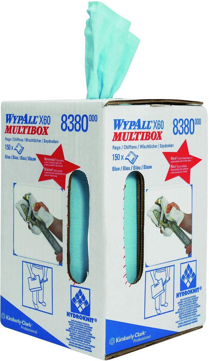 Материал протирочный Wypall Х60, 150 листов. 83808380Протирочные салфетки для многоразового использования, изготовленные по технологии HYDROKNIT®, обладают отличной впитывающей способностью, долговечностью и прочностью (как в сухом, так и во влажном состоянии), могут использоваться с большинством растворителей, обеспечивают быструю очистку и помогают сократить расходы. Идеальное решение для легких задач по очистке от клея, масла, мусора; возможность использования смазочных материалов, растворителей, разбавителей; очистка стекол; прецизионная очистка сложных механизмов и деталей; очистка рук. Формат поставки: большой рулон с перфорацией для зон с высокой проходимостью. Может использоваться с переносными или стационарными диспенсерами для контроля расхода продукта и уменьшения объема отходов.