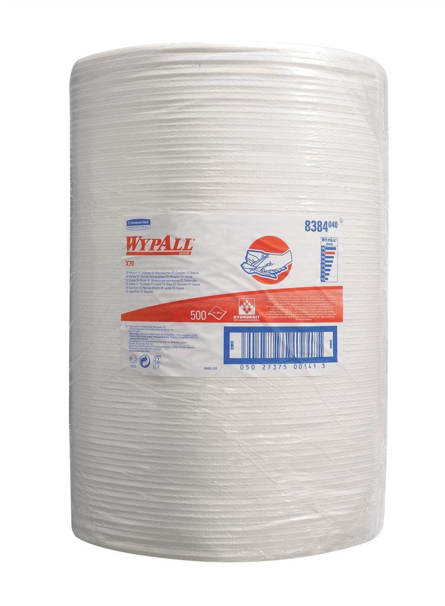 Материал протирочный Wypall Х70, 500 листов. 83848384Протирочные салфетки для многоразового использования, изготовленные по технологии HYDROKNIT®, обладают отличной впитывающей способностью, долговечностью и прочностью (как в сухом, так и во влажном состоянии), могут использоваться с большинством растворителей, обеспечивают быструю очистку и помогают сократить расходы. Идеальное решение для задач средней сложности при техническом обслуживании; удаление масла, смазки, грязи, растворителей; очистка инструментов, механизмов, металлических поверхностей; удаление смазочно-охлаждающих жидкостей; защита деталей. Формат поставки: большой рулон с перфорацией для зон с высокой проходимостью. Может использоваться с переносными или стационарными диспенсерами для контроля расхода продукта и уменьшения объема отходов.