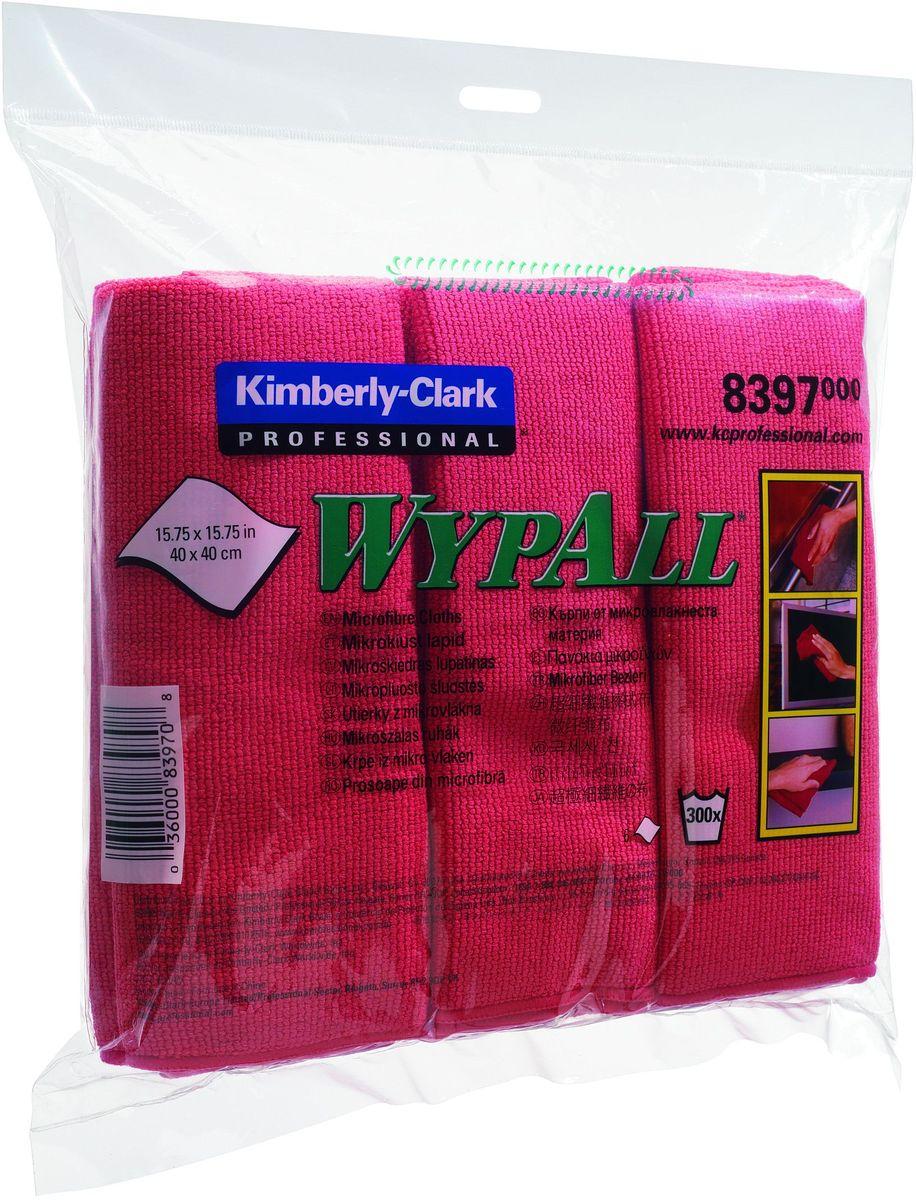 Салфетка протирочная Wypall, цвет: красный, 40 х 40 см, 6 шт. 83978397Универсальные высококачественные салфетки из микрофибры с цветовой кодировкой уменьшают риск перекрестного загрязнения, обеспечивают очистку без применения химикатов и помогают снизить затраты. Идеальное решение для очистки рабочих столов и поверхностей; очистка стекол и зеркал без разводов при помощи зеленых салфеток из микрофибры; повышение уровня гигиены. Формат поставки: сложенные протирочные салфетки, упакованные в 4 полиэтиленовых пакета для защиты от брызг и воды по 6 штук, обеспечивающий мгновенный доступ к гигиенически-защищенным салфеткам на рабочем месте. 8394 - желтый 8395 - синий 8396 - зеленый (специально для стекол) 8397 - красный