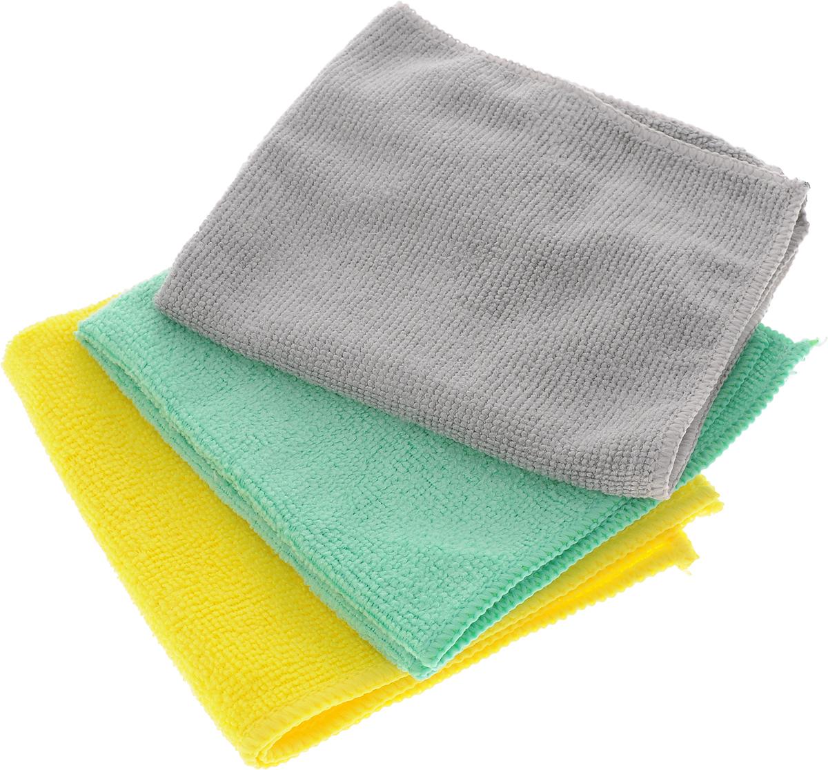 Набор универсальных салфеток Фэйт Вэриес, цвет: желтый, зеленый, серый, 30 х 30 см, 3 шт1304057_желтый, зеленый, серыйНабор Фэйт Вэриес состоит из 3 универсальных салфеток, выполненных из микрофибры. Такие салфетки не оставляют ворсинок, подходят для многократного использования, отлично впитывают влагу. Комплектация: 3 шт. Размер салфетки: 30 х 30 см.