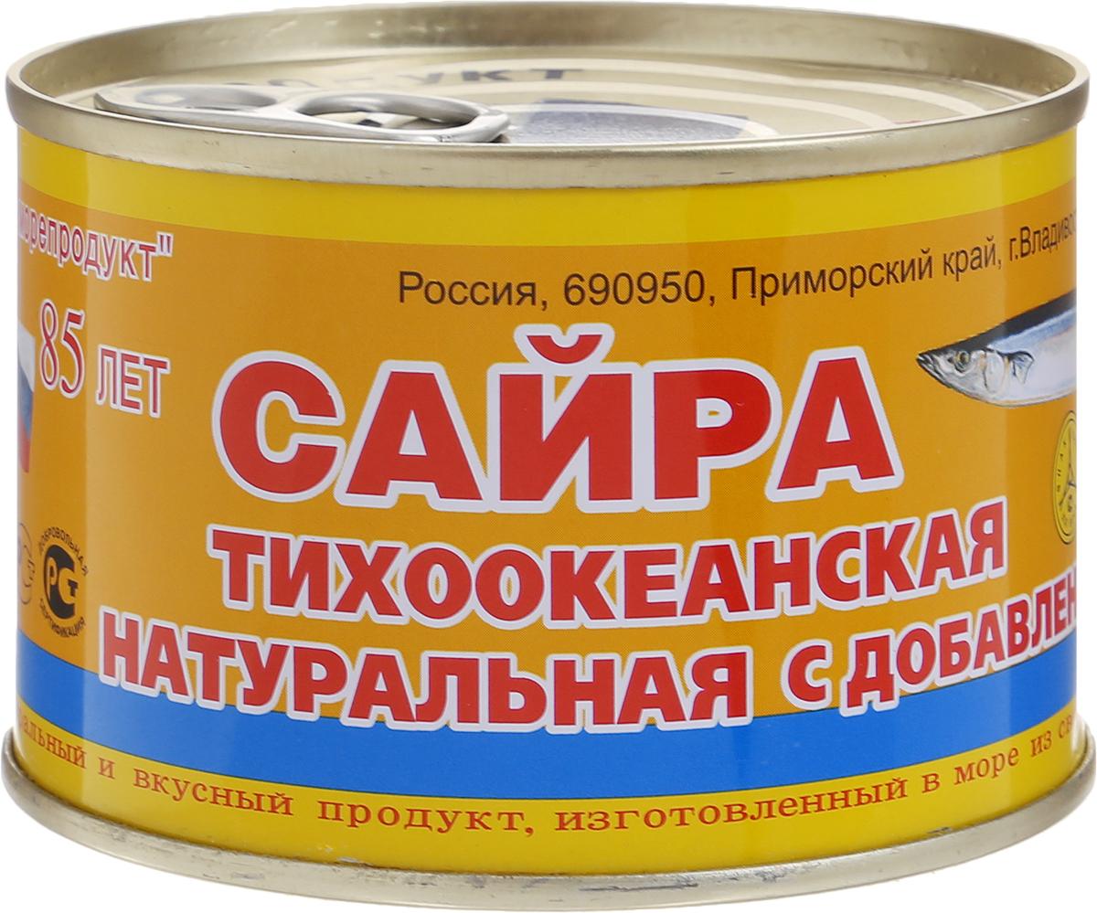 Дальморепродукт сайра натуральная с добавлением масла, 245 г2713Рыбные консервы Дальморепродукт из тихоокеанской сайры с добавлением масла. Натуральный и вкусный продукт, изготовленный в море из свежевыловленной рыбы.