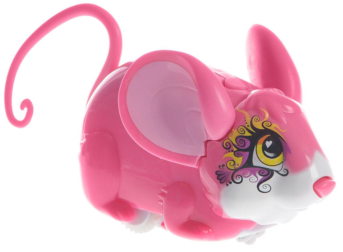 Amazing Zhus Интерактивная игрушка Мышка-циркач Алесса цвет розовый26304_розовыйAmazing Zhus Мышка-циркач Алесса - это интерактивная игрушка, выполненная в виде цирковой мышки длиной 12 см. Игрушка имеет 3 игровых режима. При нажатии на кнопку на шее мышка начинает издавать забавные звуки каждые несколько секунд. При нажатии на кнопку на спине (режим исследования) мышка начинает изучать пространство, натыкаясь на препятствие, меняет направление и издает забавные звуки. При нажатии на нос - издает забавные звуки, а в режиме исследования нос используется как радар. В ассортименте есть множество цирковых аксессуаров для игры и фокусов. Очаровательная мышка понравится и детям, и взрослым! Для работы игрушки необходимы 2 батарейки типа ААА (товар комплектуется демонстрационными).