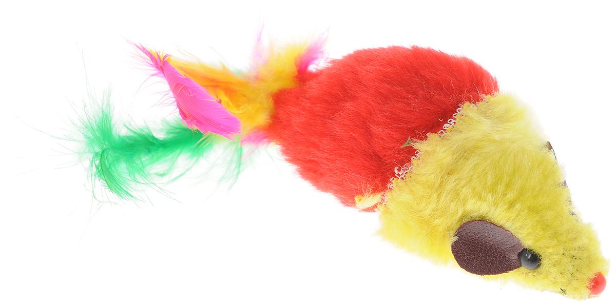 Игрушка для кошек Каскад Мышь, с перьями, цвет: желтый, красный, длина 8 см27754634_желтый, красныйИгрушка для кошек Каскад Мышь изготовлена из искусственного меха, пластика и пера. Такая игрушка порадует вашего любимца, а вам доставит массу приятных эмоций, ведь наблюдать за игрой всегда интересно и приятно. Длина игрушки (без учета перьев): 8 см. Длина игрушки (с учетом перьев): 15 см.