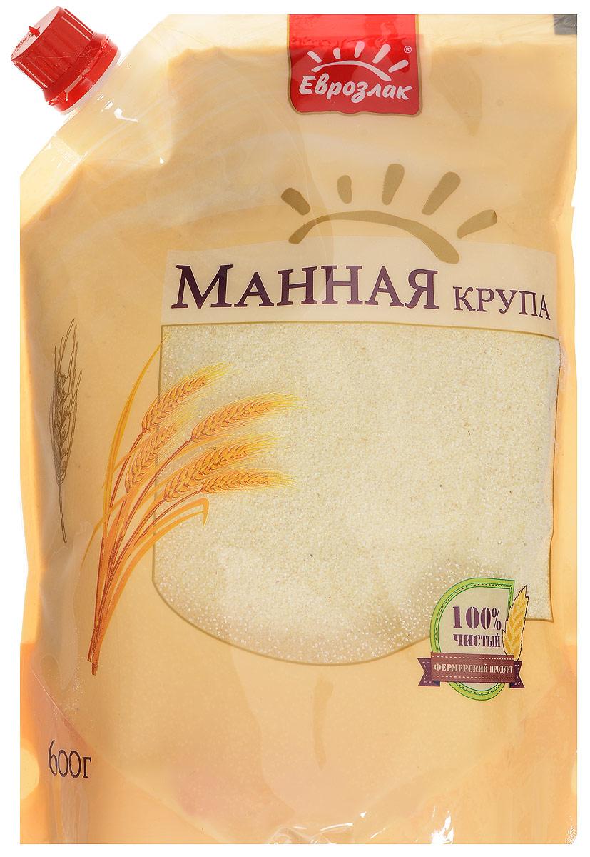 """Манная крупа """"Еврозлак"""" - молотая крупа из высококачественных пшеничных зерен, нежного желтовато-сливочного цвета с манящим легким хлебным ароматом. Манная крупа """"Еврозлак"""" богата белками, крахмалом и абсолютно всеми витаминами и минералами, которыми славится отборная пшеница. Каша из манки сытная и питательная, придает жизненные силы и успокаивающе воздействует на желудок. Упаковка дой-пак герметична, что обеспечивает не только повышенный срок хранения, но и предотвращает попадание внутрь влаги и других нежелательных компонентов. Продукты в этой упаковке компактно размещаются в хозяйственном шкафу, содержимое вскрытого пакета не просыпается, а дозатор позволяет рационально использовать содержимое."""