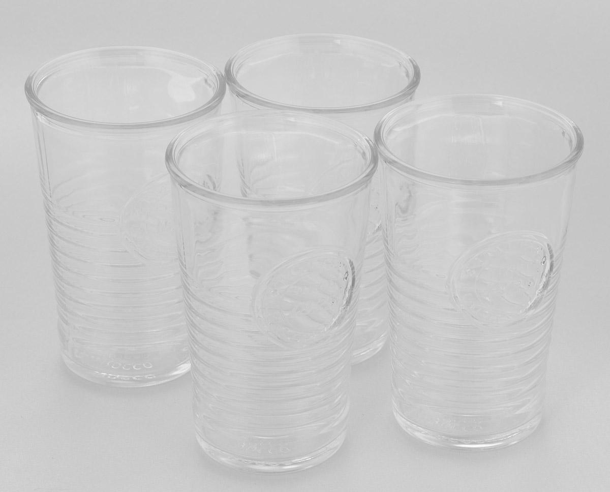 Набор стаканов Bormioli Rocco Officina 1825, 290 мл, 4 шт540620G10021990Набор Bormioli Rocco Officina 1825 состоит из 4 стаканов, выполненных из стекла. Стаканы оформлены оригинальным рельефом и по форме напоминают пластиковые стаканчики. Предназначены для холодных напитков: соков, воды, лимонада. Стаканы Bormioli Rocco Officina 1825 станут необычным дополнением интерьера кухни и украшением кухонного стола. Отличный подарок к любому празднику. Диаметр стакана (по верхнему краю): 8 см. Высота стакана: 12 см.