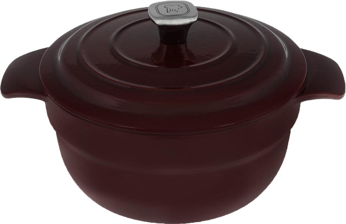 Кастрюля Rondell Noble Red с крышкой, круглая, 4,2 лRDI 704Кастрюля Rondell Noble Red изготовлена из высококачественного чугуна. Блюда приготовленные в чугунной посуде отличаются особым вкусом, они являются более здоровыми, так как благодаря отличному сохранению температуры вы можете не жарить, а томить блюда с минимальным количеством масла (с использованием крышки). Высококачественная внутренняя и внешняя эмаль защищает вашу посуду от окисления, позволяет хранить пищу в посуде после приготовления и облегчает уход. Ручки с желобком, плавными скругленными углами и удобным наклоном обеспечивают удобство при использовании. Выпуклости на внутренней стороне крышки обеспечивают эффект орошения, сохранение натурального вкуса и питательной ценности блюд. Воплощайте свои фантазии вместе с кастрюлей Rondell. Такая кастрюля - это идеальный подарок для современных хозяек, которые следят за своим здоровьем и здоровьем своей семьи. В комплект входит буклет с рецептами от шеф-повара. ...