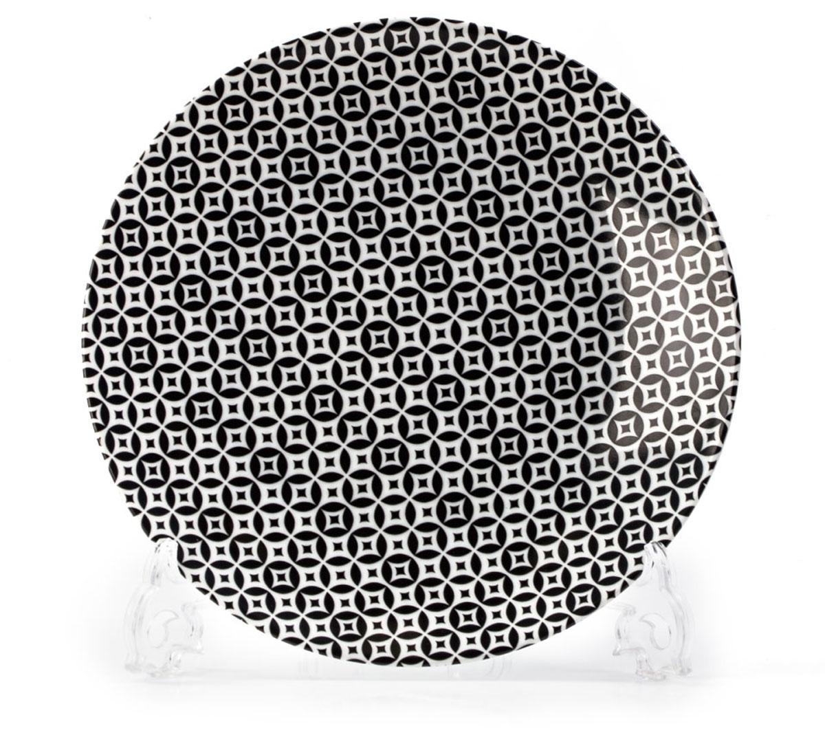 Тарелка La Rose des Sables Витон, цвет: черный, диаметр 21 см720121 2280