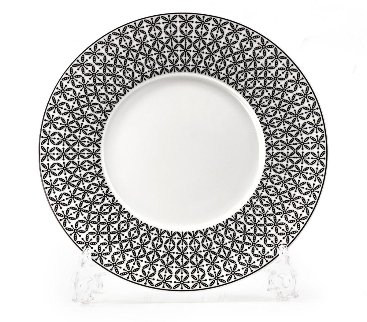 Тарелка La Rose des Sables Ажур, цвет: черный, диаметр 21 см830123 2300