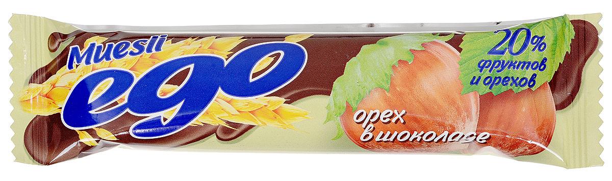 Ego Батончик мюсли со вкусом Орех в шоколаде, 25 г4607061252568Батончики мюсли Ego - это новое поколение диетических продуктов, концентрированный набор крупноволокнистой пищи, витаминов и микроэлементов. Они изготавливаются из пшеничных и овсяных хлопьев, экструдированной кукурузы и риса, различных фруктов, семян подсолнечника, орехов и мальтозного сиропа. Прекрасно подходят для диетического питания. Уважаемые клиенты! Обращаем ваше внимание, что полный перечень состава продукта представлен на дополнительном изображении.