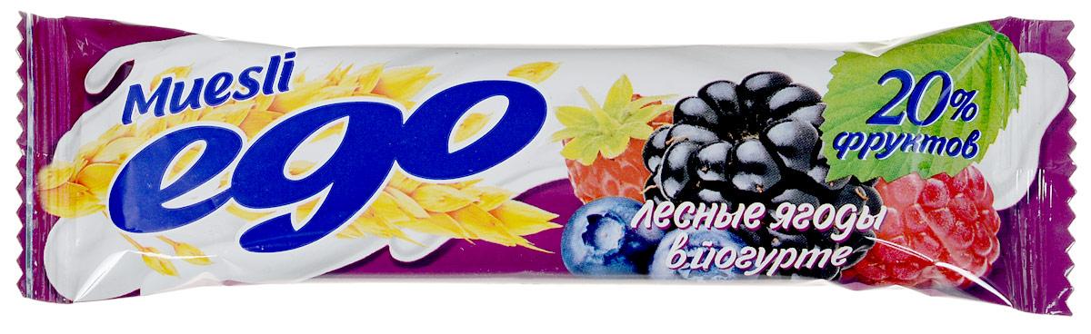 Ego Батончик мюсли со вкусом Лесные ягоды в йогурте, 25 г4607061252520Батончики мюсли Ego - это новое поколение диетических продуктов, концентрированный набор крупноволокнистой пищи, витаминов и микроэлементов. Они изготавливаются из пшеничных и овсяных хлопьев, экструдированной кукурузы и риса, различных фруктов, семян подсолнечника, орехов и мальтозного сиропа. Прекрасно подходят для диетического питания. Уважаемые клиенты! Обращаем ваше внимание, что полный перечень состава продукта представлен на дополнительном изображении.
