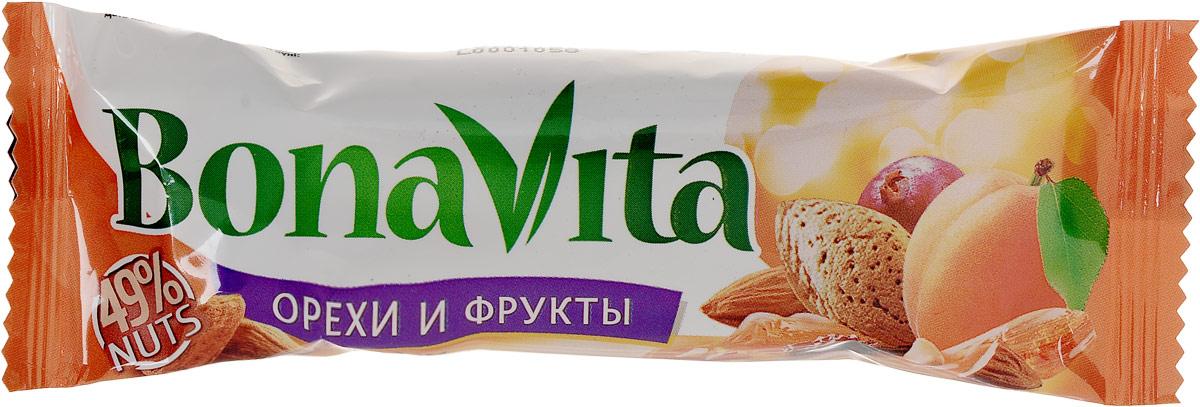 Bona Vita Батончик ореховый с фруктами и медом, 35 г