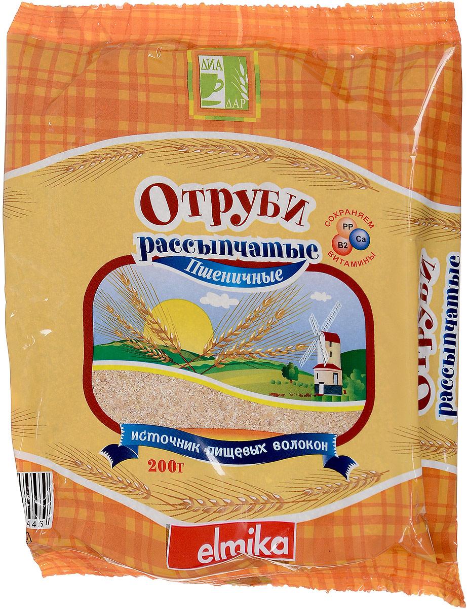 Диадар Отруби рассыпчатые Пшеничные, 200 г
