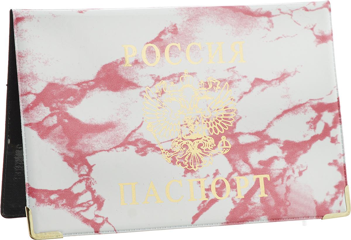 Обложка для паспорта Главдор, цвет: брусничный, белый. GL-222GL-222_брусничный мраморОбложка для паспорта Главдор выполнена из ПВХ. Изделие оформлено принтом под мрамор и дополнено золотистым изображением герба России. Внутри расположено 2 прозрачных кармашка для вашего паспорта. Такие обложки предназначены для защиты ваших документов от пыли, грязи и влаги. Они сохранят их целыми и невредимыми.