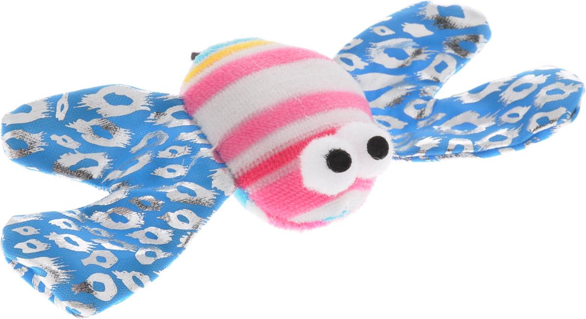 Игрушка для кошек V.I.Pet Пчелка, с мятой, цвет: голубой, розовый, белый, 13 х 9 х 2,5 смC-110_голубой, розовый, белыйМягкая игрушка для кошек V.I.Pet Пчелка выполнена из текстиля. Играя с этой забавной игрушкой, маленькие котята развиваются физически, а взрослые кошки и коты поддерживают свой мышечный тонус. Изделие выполнено в виде пчелки. В наполнитель игрушки добавлена кошачья мята. Кошачья мята - растение, запах которого делает кошку более игривой и любопытной. С помощью этого средства кошка легче перенесет путешествие на автомобиле, посещение ветеринарного врача, переезд на новую квартиру. Размер игрушки: 13 х 9 х 2,5 см. Длина шнурка: 53 см.