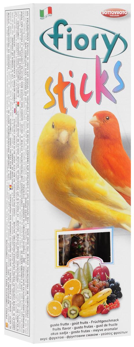 Палочки для канареек Fiory Sticks, с фруктами, 2 х 30 г2505Палочки для канареек Fiory Sticks состоят из фруктов и десяти разновидностей семян, которые богаты белками и жирами и обладают освежающим и стимулирующим действием. Клейкое вещество особенно вкусно, и птицам легко его клевать. Канарейки могут склевывать семена, не раскалывая их на куски и не разбрасывая крошки по дну клетки. Поскольку продукт отличается высоким содержанием белков, им не следует злоупотреблять. Как и все дополнительное питание, палочки считаются лакомством и являются добавкой к обычному рациону птицы. Товар сертифицирован.