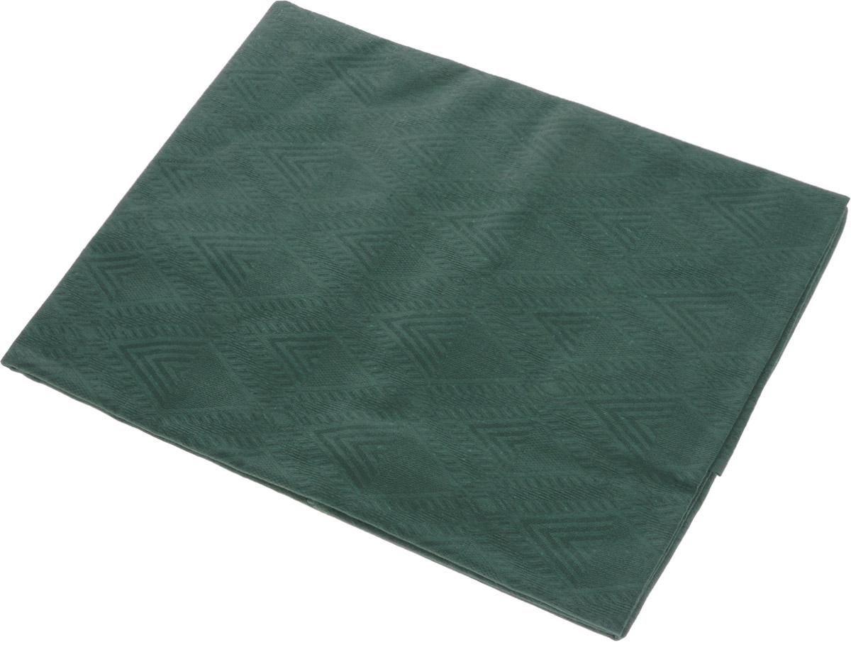 Скатерть Гаврилов-Ямский Лен, прямоугольная, цвет: зеленый, 150 x 180 см1со-3208(обр35)_зеленыйСкатерть Гаврилов-Ямский Лен выполнена из 51% льна и 49% хлопка и декорирована жаккардовым рисунком. Данное изделие является незаменимым аксессуаром для сервировки стола. Лён - поистине, уникальный экологически чистый материал. Изделия из льна обладают уникальными потребительскими свойствами. Хлопок представляет собой натуральное волокно, которое получают из созревших плодов такого растения как хлопчатник. Качество хлопка зависит от длины волокна - чем длиннее волокно, тем ткань лучше и качественней. Такая скатерть очень практична и неприхотлива в уходе. Она создаст тепло и уют вашему дому.