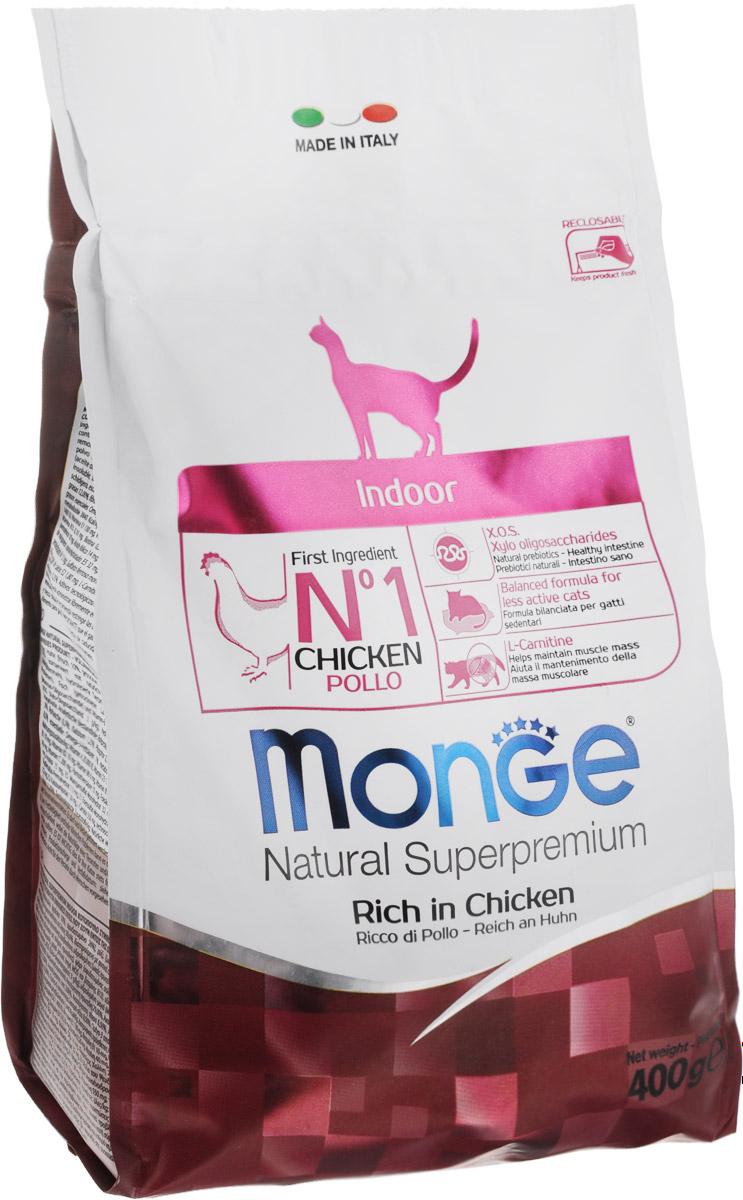 Корм сухой Monge для взрослых домашних кошек, 400 г70005104Сухой корм Monge - это полноценный корм с превосходным вкусом для домашних кошек, которые нуждаются в контролируемом питании, особенно при стерилизации. Потребление растительных волокон позволяет исключить накопления комочков шерсти в желудке. Оптимальное соотношение жировых кислот Омега-3 и Омега-6 способствует нормальному функционированию сердца, и обеспечивает идеальный баланс кишечной флоры. Также, содержит L-карнитин, который препятствует накоплению жира, сохраняя при этом функции печени животного. Безупречная рецептура данного корма удовлетворяет как аппетит кошки, так и помогает сохранить зубы здоровыми и чистыми, дыхание свежим, а шерсть блестящей. Товар сертифицирован.