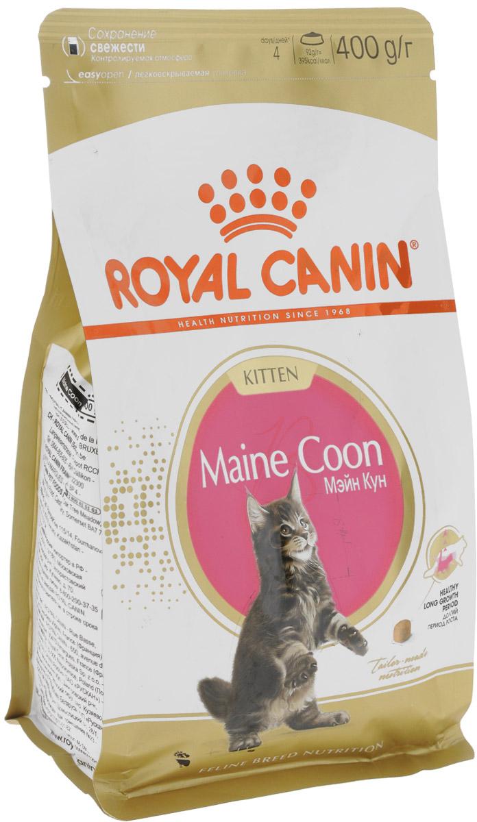 Корм сухой Royal Canin Maine Coon Kitten для котят породы мейн-кун в возрасте от 3 до 15 месяцев, 400 г. 941941_новинкаRoyal Canin Maine Coon Kitten - это полноценный сухой корм для котят породы мейн-кун в возрасте от 3 до 15 месяцев. Фаза роста котят мейн-куна более продолжительна, чем у кошек других пород. В силу своей особой комплекции котенок породы мейн-кун достигает зрелости только к 15 месяцам или даже позже. Длительный период роста означает, что диета для котят должна отвечать их специфическим потребностям в энергии: это обеспечит гармоничное и сбалансированное развитие. Корм Royal Canin Maine Coon Kitten создан для сбалансированного развития котенка и содержит все необходимые компоненты, а именно: - адаптированное содержание энергии и белков, а также баланс витаминов и минеральных веществ (в том числе витамина D, кальция и фосфора), которые помогают поддерживать развитие костей и суставов для гармоничного роста, - высокоусвояемые белки (L.I.P.*) и пребиотики, они поддерживают баланс кишечной микрофлоры, - комплекс антиоксидантов, включающий...