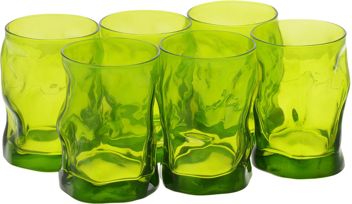 Набор стаканов Bormioli Rocco Сордженте Аква, цвет: зеленый, 6 шт340420MP1321591Набор Bormioli Rocco Сордженте Аква, выполненный из стекла, состоит из 6 стаканов и предназначен для подачи холодных напитков. С внутренней стороны поверхность стаканов рельефная, что создает эффект игры и преломления. Стаканы Bormioli Rocco Сордженте Аква станут идеальным украшением праздничного стола и отличным подарком к любому празднику. Объем стакана: 300 мл. Диаметр стакана по верхнему краю: 7 см. Высота стакана: 10,5 см.
