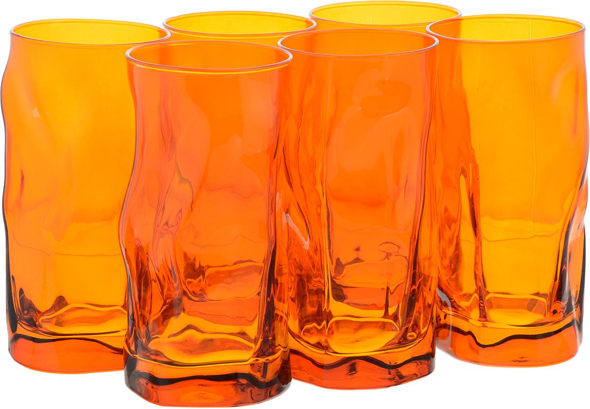 Набор стаканов Bormioli Rocco Сордженте, цвет: оранжевый, 6 шт340360MP1321590Набор Bormioli Rocco Сордженте, выполненный из стекла, состоит из 6 высоких стаканов и предназначен для подачи холодных напитков. С внутренней стороны поверхность стаканов рельефная, что создает эффект игры и преломления. Набор стаканов Bormioli Rocco Сордженте станет идеальным украшением праздничного стола и отличным подарком к любому празднику. Объем стакана: 455 мл. Диаметр стакана по верхнему краю: 7 см. Высота стакана: 15,5 см.