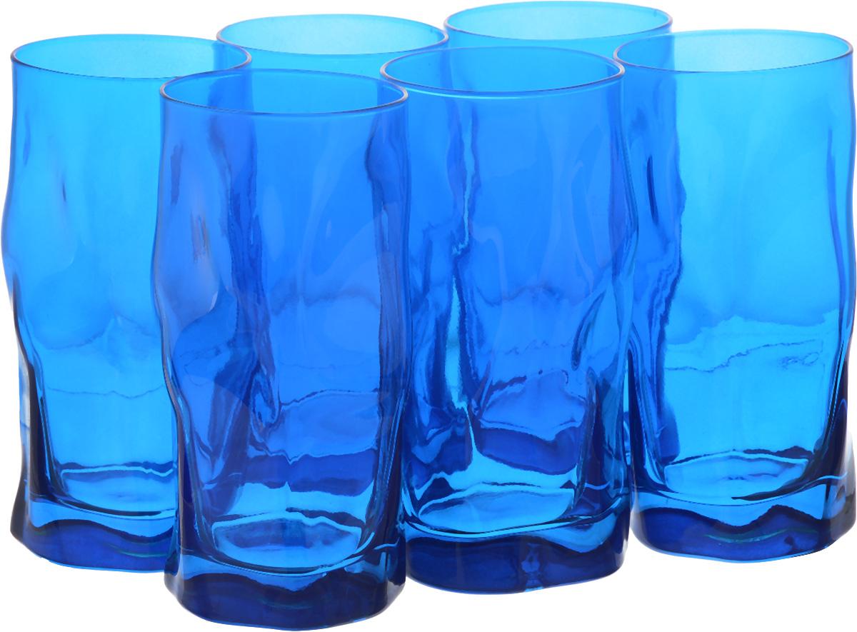 Набор стаканов Bormioli Rocco Сордженте, цвет: голубой, 6 шт340360MP1321706Набор Bormioli Rocco Сордженте, выполненный из стекла, состоит из 6 высоких стаканов и предназначен для подачи холодных напитков. С внутренней стороны поверхность стаканов рельефная, что создает эффект игры и преломления. Набор стаканов Bormioli Rocco Сордженте станет идеальным украшением праздничного стола и отличным подарком к любому празднику. Объем стакана: 455 мл. Диаметр стакана по верхнему краю: 7 см. Высота стакана: 15,5 см.