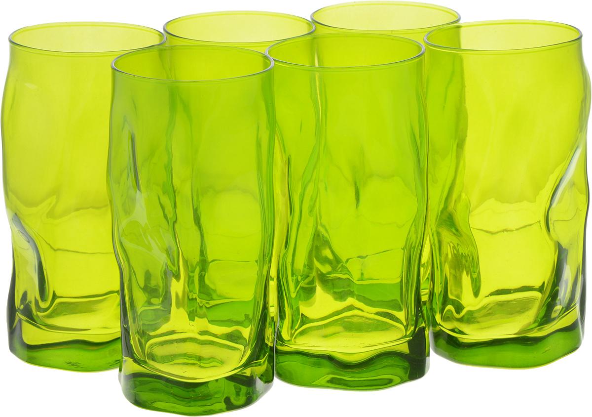 Набор стаканов Bormioli Rocco Сордженте, цвет: зеленый, 6 шт340360MP1321591Набор Bormioli Rocco Сордженте, выполненный из стекла, состоит из 6 высоких стаканов и предназначен для подачи холодных напитков. С внутренней стороны поверхность стаканов рельефная, что создает эффект игры и преломления. Набор стаканов Bormioli Rocco Сордженте станет идеальным украшением праздничного стола и отличным подарком к любому празднику. Объем стакана: 455 мл. Диаметр стакана по верхнему краю: 7 см. Высота стакана: 15,5 см.