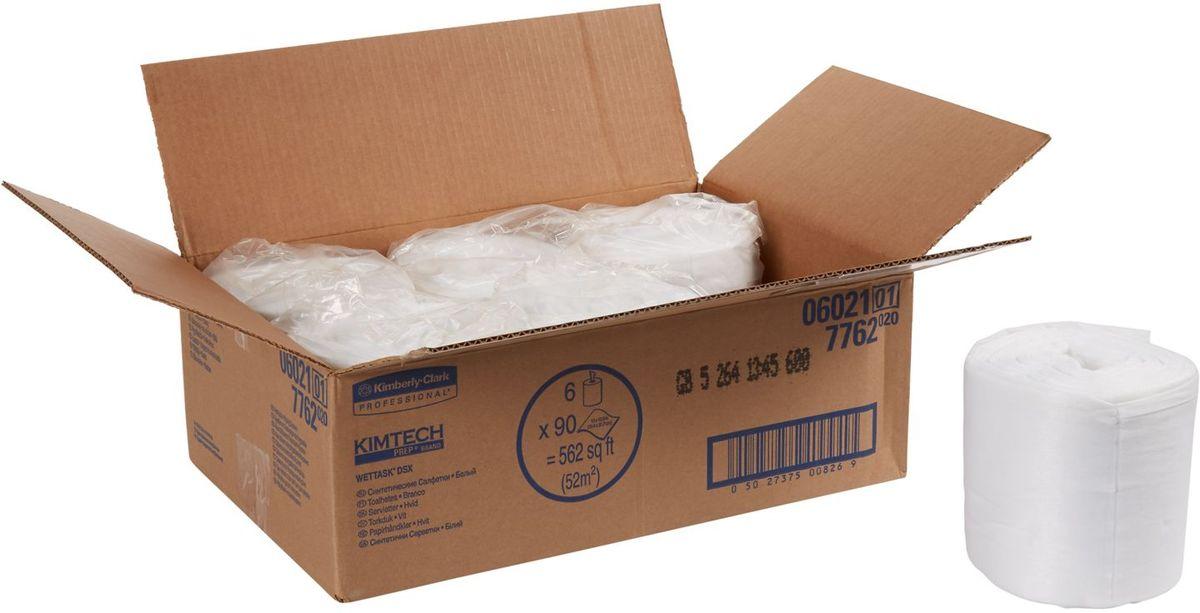Салфетка протирочная Kimtech Wettask DSX, 90 листов, 6 рулонов. 77627762Идеальное решение для очистки и дезинфекции без распыления химикатов; инфекционный контроль в лечебных заведениях; препятствует образованию плесени и бактерий. Формат поставки: 6 рулонов по 90 листов белых салфеток в малом рулоне. Заправляемая, герметичная система очистки на основе предварительно пропитанных салфеток помогает снизить затраты на растворители и дезинфицирующие средства, повышает уровень безопасности за счет предотвращения разливов. Ведро-диспенсер (арт. 7919) приобретается отдельно.