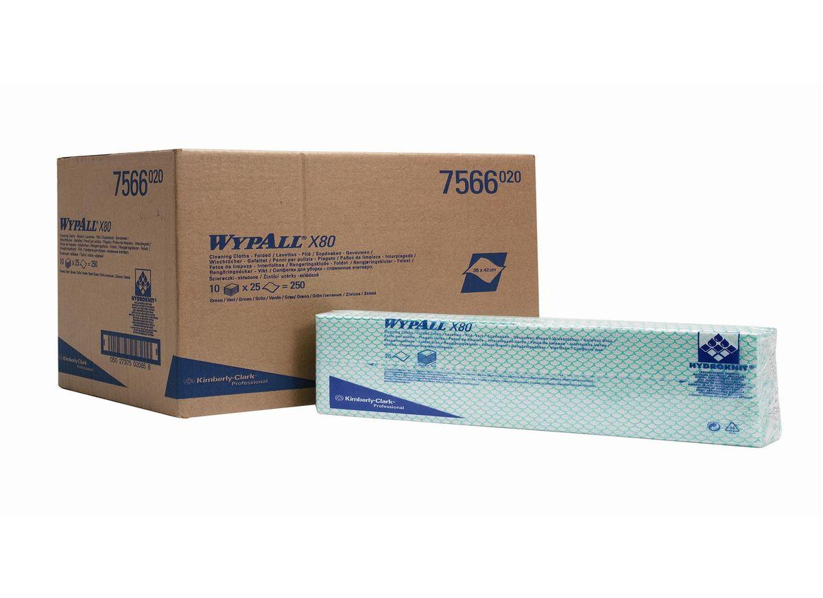 Салфетка протирочная Wypall Х80, 4 сложения, 25 листов, 10 упаковок. 75667566Протирочные салфетки для многоразового использования, изготовленные по технологии HYDROKNIT®, обладают отличной впитывающей способностью, долговечностью и прочностью (как в сухом, так и во влажном состоянии), могут использоваться с большинством растворителей, обеспечивают быструю очистку и помогают сократить расходы. Идеальное решение для выполнения сложных задач на производственных участках со строгим разделением операций, при грубой очистке в клинических помещениях и палатах пациентов, на кухнях и участках приготовления пищи; помогает предотвратить перекрестное загрязнение за счет цветовой кодировки. Салфетки можно стирать и использовать повторно, что уменьшает объем отходов и сокращает эксплуатационные затраты. Формат поставки: сложенные протирочные салфетки, упакованные в полиэтиленовый пакет для защиты от брызг и воды, обеспечивающий мгновенный доступ к гигиенически защищенным салфеткам на рабочем месте. 7 - синий 7566 - зеленый 7567 - желтый 7568 - красный