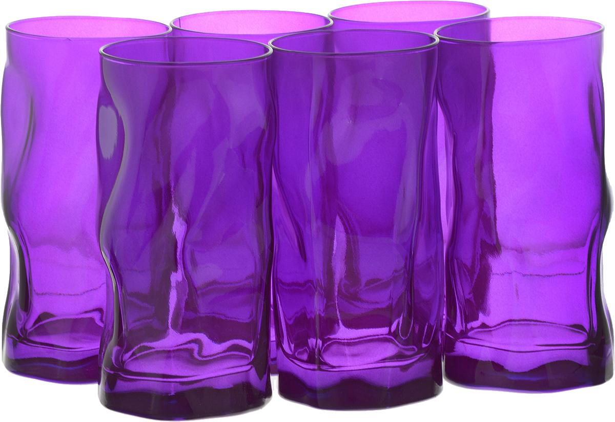Набор стаканов Bormioli Rocco Сордженте, цвет: фиолетовый, 6 шт340360MP1321592Набор Bormioli Rocco Сордженте, выполненный из стекла, состоит из 6 высоких стаканов и предназначен для подачи холодных напитков. С внутренней стороны поверхность стаканов рельефная, что создает эффект игры и преломления. Набор стаканов Bormioli Rocco Сордженте станет идеальным украшением праздничного стола и отличным подарком к любому празднику. Объем стакана: 455 мл. Диаметр стакана по верхнему краю: 7 см. Высота стакана: 15,5 см.