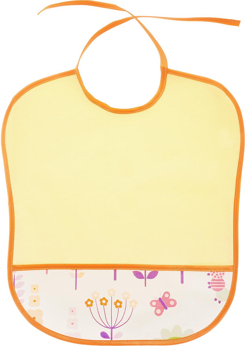 Колорит Нагрудник защитный Цветы 33 см х 33 см0083_желтый, оранжевыйНагрудник Колорит Цветы изготовлен из подкладной клеенки с ПВХ покрытием, обладает эффектом теплоотдачи. Нагрудник предназначен для многоразового использования, не промокает, предохраняет от загрязнений во время кормления. Нагрудник на завязках - выбор практичных мамочек. Пользоваться таким нагрудником можно длительное время, пока ваш малыш растет. Благодаря завязкам вы сможете легко контролировать длину изделия и регулировать размер горловины.