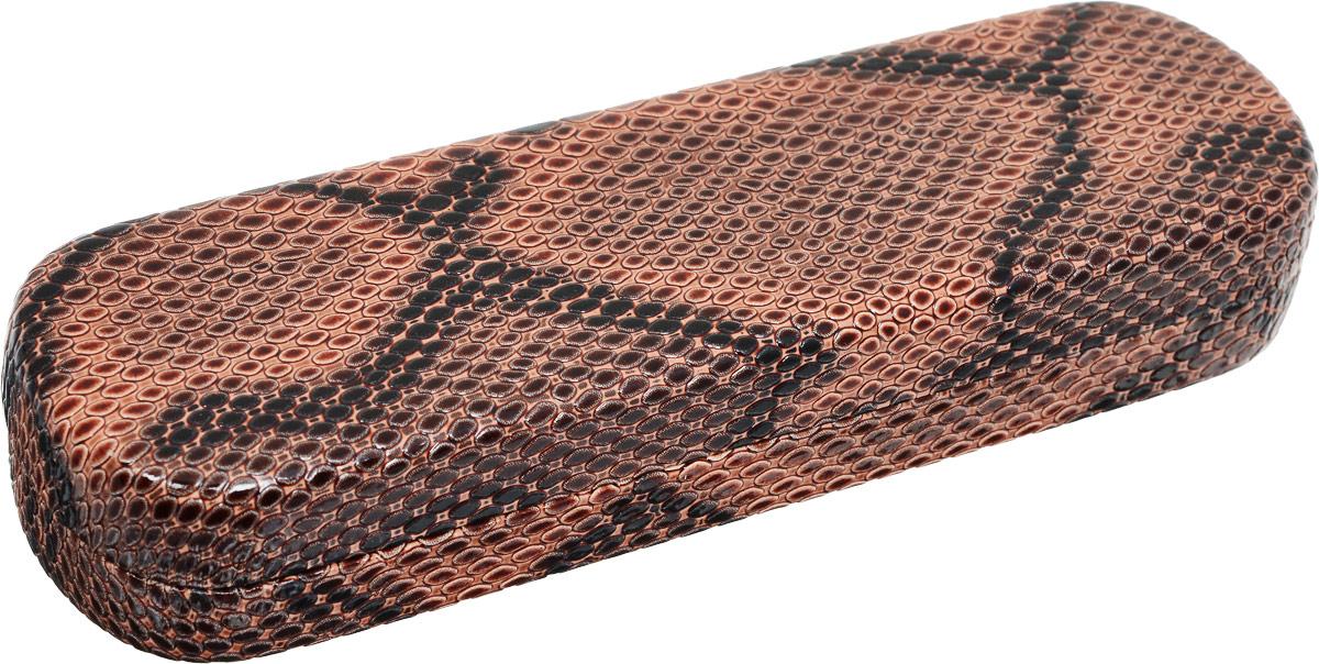 Футляр для очков Proffi Home Fabia Monti, цвет: коричневый. PH6733PH6733Стильный футляр для очков Proffi Home Fabia Monti выполнен из эко-кожи с тиснением под рептилию. Внутренняя часть изделия оформлена мягким бархатистым материалом. Такой футляр станет замечательным подарком человеку, ценящему качественные и полезные вещи.