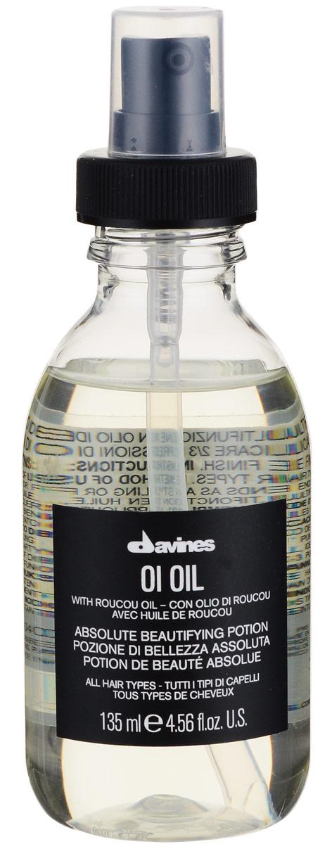 Davines Масло для абсолютной красоты волос Essential Haircare Ol Oil Absolute beautifying potion, 135 мл71199/76000Масло применяется для любого типа волос. Средство покрывает защитной плёнкой каждый волосок, обеспечивая тем самым бережную защиту, не утяжеляет локоны, обладает антиоксидантным эффектом, придаёт волосам блеск и шелковистость. Масло облегчает распутывание и расчёсывание кудрявых волос. В основе средства лежит масло аннатто (Bixa orellana), которое богато бета-каротином.