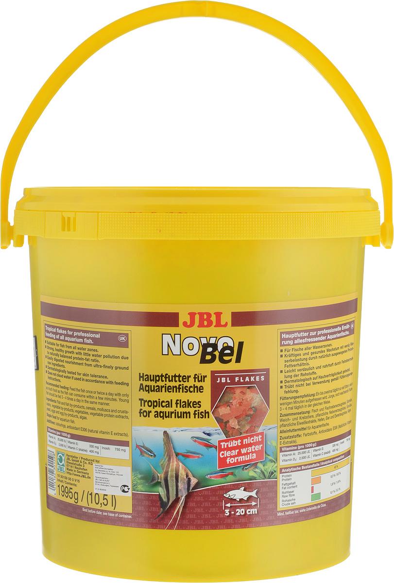 Корм JBL NovoBel для всех аквариумных рыб, в форме хлопьев, 1,995 кг (10,5 л)JBL3015900JBL NovoBel - основной корм в форме хлопьев для всех аквариумных рыб. Корм содержит свыше 50 натуральных питательных веществ и 7 различных сортов хлопьев. Количество фосфатов точно рассчитано, чтобы работать на сокращение роста водорослей и способствовать росту рыб. Содержит витамин Е (в качестве антиоксиданта) и стабилизированный витамин С. Состав: протеин 43%, жир 8,3%, клетчатка 1,9%, чистая зола 8,1%. Содержание витаминов (на 1000 г): витамин А 25000 u.i, витамин D3 2000 u.i, витамин Е 330 мг, витамин С 400 мг, инозит 750 мг. Товар сертифицирован.