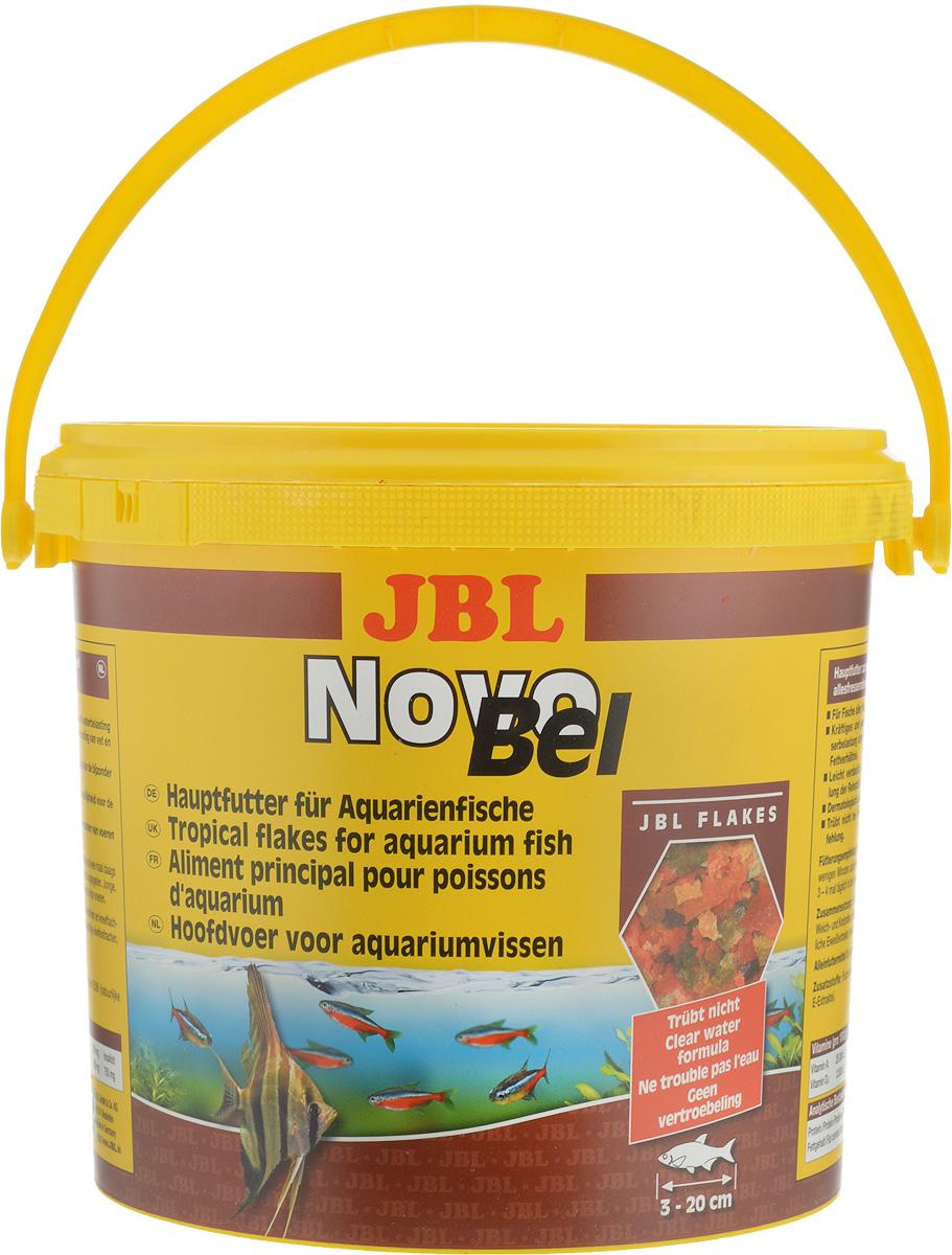 Корм JBL NovoBel для всех аквариумных рыб, в форме хлопьев, 950 г (5,5 л)JBL3015400JBL NovoBel - основной корм в форме хлопьев для всех аквариумных рыб. Корм содержит свыше 50 натуральных питательных веществ и 7 различных сортов хлопьев. Количество фосфатов точно рассчитано, чтобы работать на сокращение роста водорослей и способствовать росту рыб. Содержит витамин Е (в качестве антиоксиданта) и стабилизированный витамин С. Состав: протеин 45,2%, жир 5%, клетчатка 1,5%, чистая зола 9,7%. Содержание витаминов (на 1000 г): витамин А 25000 i.E, витамин D3 2000 i.E, витамин Е 330 мг, витамин С 400 мг, инозит 750 мг. Товар сертифицирован.