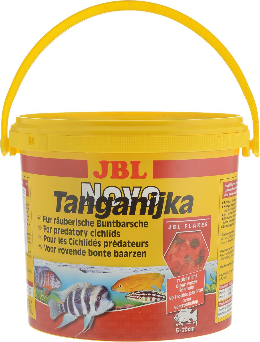 Корм JBL NovoTanganjika для хищных цихлид из озер Малави и Таньгаика, в форме хлопьев, 5,5 л (950 г)JBL3002200JBL NovoTanganjika - профессиональный корм для хищных цихлид из озер Малави и Таньгаика. Состав корма ориентирован на специфические питательные потребности данного вида рыб. Здоровый рост обеспечен использованием в корме высокоценного белка из рыбы, мелких креветок и других водяных животных, а также легко усваиваемого жира как носителя энергии. Ценные каротиноиды, жизненно важные витамины и природные вещества способствуют образованию естественной красивой окраски рыб и укрепляют иммунитет, чеснок также способствует укреплению здоровья. Рекомендации по кормлению: Два или три раза в день в том количестве, которое может быть съедено рыбами в течение нескольких минут. Мальков кормить чаще. Товар сертифицирован.