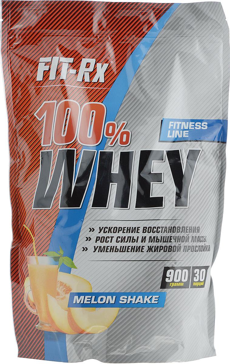 Концентрат напитка сухой FIT-Rx Белковый коктейль 100% Whey, со вкусом дынного шейка, 900 гFR 100% Whey - 100% Вей дынный шейк (900г)Сухой концентрат напитка FIT-Rx Белковый коктейль 100% Whey - это сывороточный протеин и пищевые волокна. Сывороточный протеин занимает первое место по популярности среди всех видов протеинов. Основные достоинства «сыворотки» заключаются в лучшем среди всех животных протеинов аминокислот составе и максимальной скорости усвоения. Во всех ситуациях, когда организму срочно нужен высокий уровень аминокислот в крови, например, после длительного периода без пищи, перед или после физических нагрузок, сывороточный протеин будет лучшим выбором. Кроме того, высокая скорость усвоения обеспечивает и максимально высокую концентрацию аминокислот в крови и, следовательно, в мышечных волокнах. В мышечных волокнах существуют так называемые сигнальные системы обеспечивающие интенсификацию синтеза белков на рибосомах, а также увеличение количества мышечных ядер. Одним из факторов активации данной системы является избыток аминокислот в мышечной клетке, а создать такой избыток можно лишь приемом...